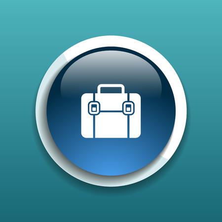 attache: Briefcase icon, vector illustration. Flat design style