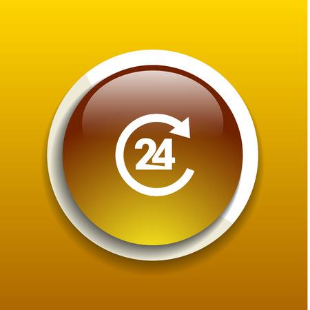 24 hr: 24 Hr service vector business glossy symbol service Illustration