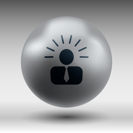 icon suggestion idea concept lightbulb people person