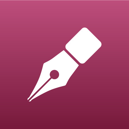 paper and pen: Fountain pen icon pen business write symbol drawing Illustration