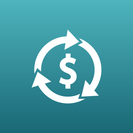 dissemination: Arrow and money Vector version also available Illustration