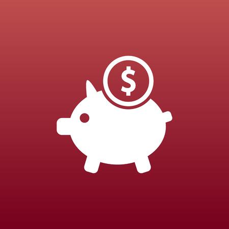 savings account: Piggy icon bank economy coin money piggy account savings