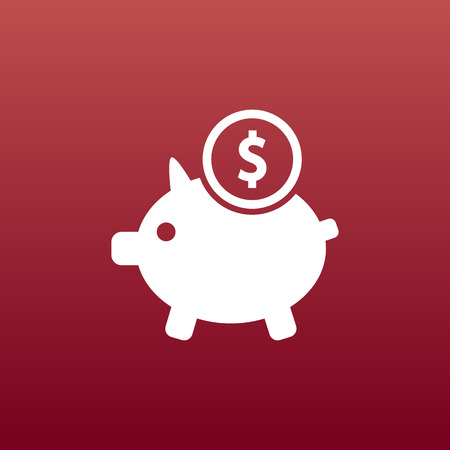 Piggy icon bank economy coin money piggy account savings