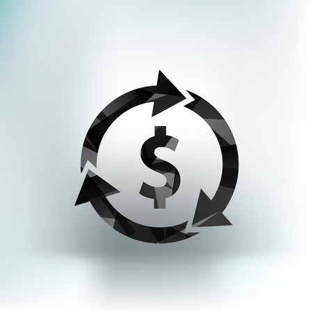 Arrow and money Vector version also available Illustration