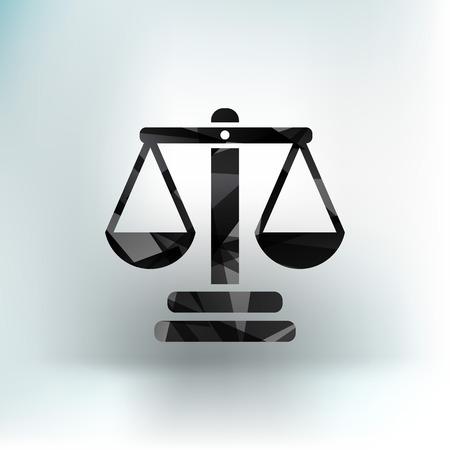 justice vector icon vector symbol measurement balance Illusztráció