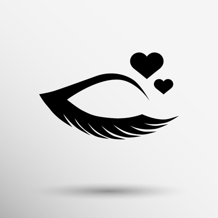 yeux maquill�: Illustration grunge belle des yeux des femmes. maquillage cr�meuse