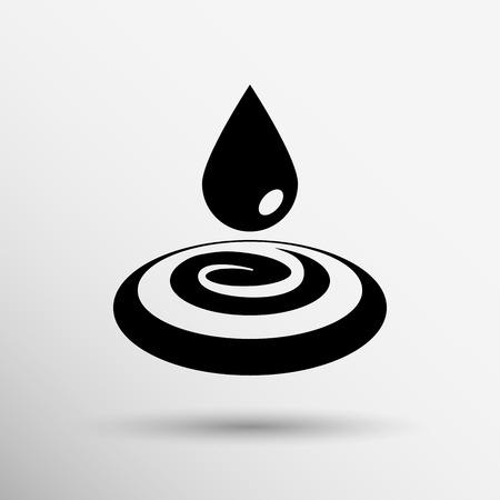 watery: goccia di crema vernice bianca goccia di pioggia acqua sudore gocciolamento. Vettoriali