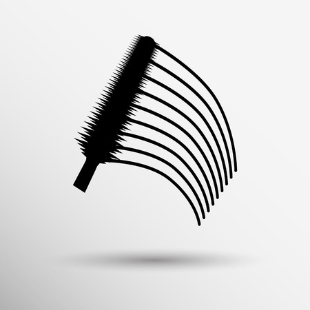 collection of a mascara  shapes each one is shot separately. Vector