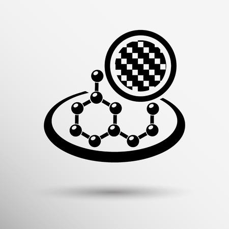 carbon organic element molecule science background icon. Vector
