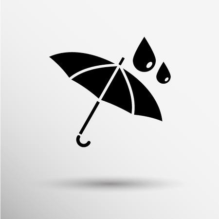wasserdicht wasserdicht Symbol Vektor-Symbol Regenschirm. Illustration