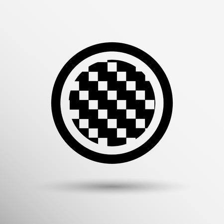 corduroy background: Apps metal-carbon icon carbon fiber vector black background iron icon. Illustration