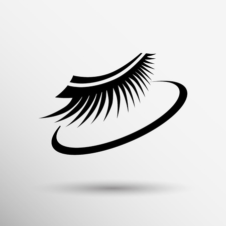 eyelash: False lashes isolated eyelash fake eye woman up girl close.