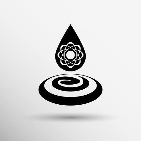gene: chemische pictogrammen pictogram druppel water element formule symbool atoom-gen.