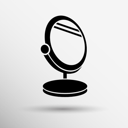 hand mirror: mirror icon vector isolated view sign symbol  2. Illustration