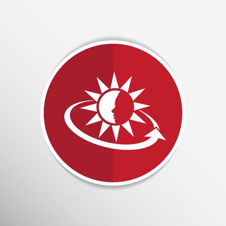 sun tan: Crema Solar Contenedores. Ilustraci�n del vector. icono de bronceado