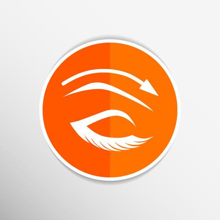 long eyelashes: Eyelashes and eyebrows vector eyelash eye vector icon makeup isolated.