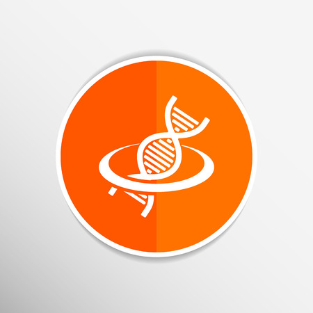 Vector dna icon  life strand symbol curve graphic genetic. Vector