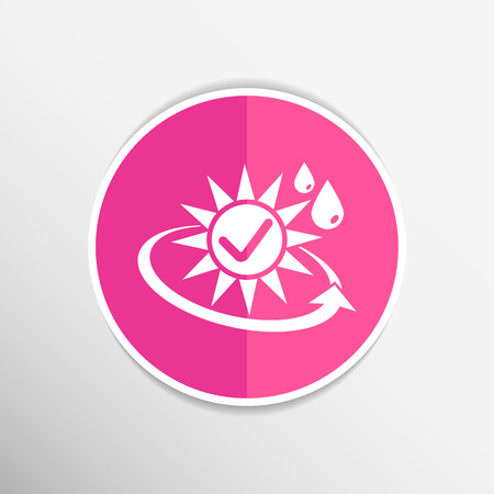 sunblock: sun protection block icon sunblock skin vector isolated . Illustration