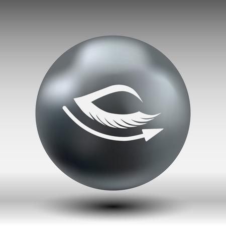 long eyelashes: vector eye with lashes long eyelashes icon. Illustration