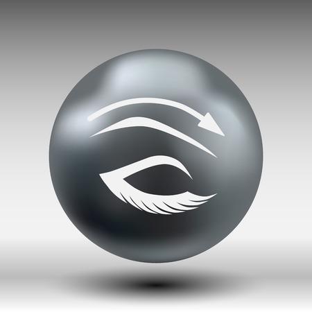eyebrows: Eyelashes and eyebrows vector eyelash eye vector icon makeup isolated.