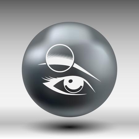 eyesight: Human eye vector isolated eye eyebrow human vector female makeup beauty eyesight.