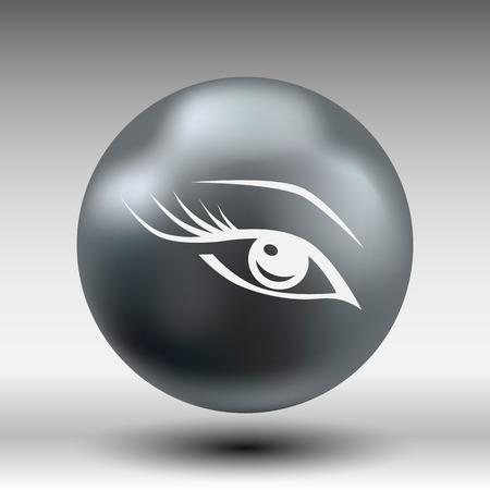 ojo azul: vector del ojo azul con largas pesta�as maquillaje belleza de la mujer s�mbolo.