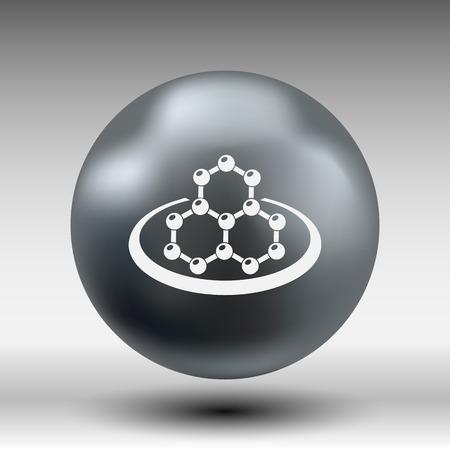 vector  molecular: icon molecular research chemistry model atom vector. Illustration
