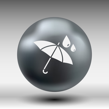 waterproof icon water proof vector symbol umbrella.