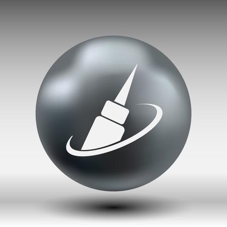 correttore: correttore icona occhio occhio vettore icona della moda isolato segno simbolo femminile. Vettoriali