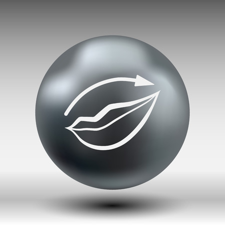 applying: Applying lipstick using lip concealer brush isolated icon.