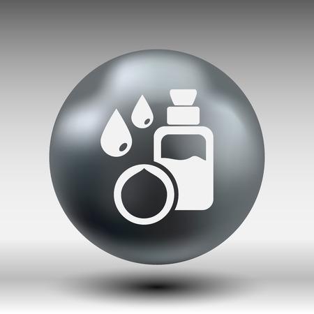 macadamia: Macadamia natural oil, Vector illustration organic nature