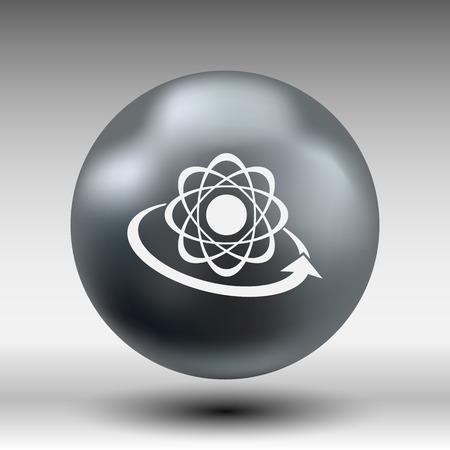 compound: Molecular compound vector icon chemistry, molecular, medical