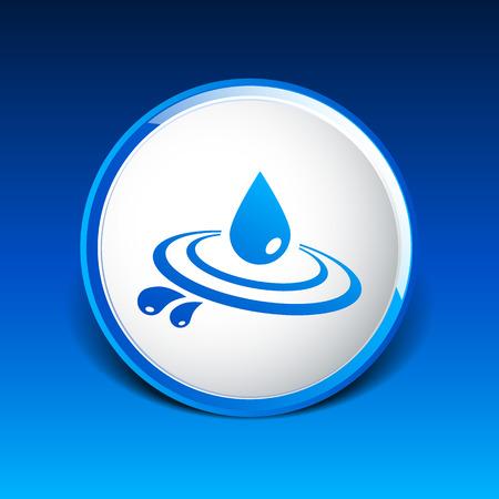 Abstract symbol  of a drop water vector symbol. Ilustração