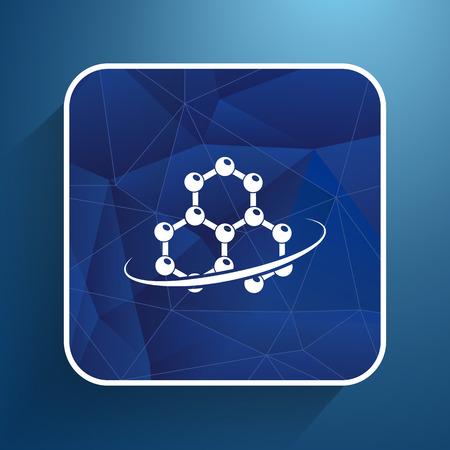 no nuclear: Molecule icon atom chemistry symbol element.