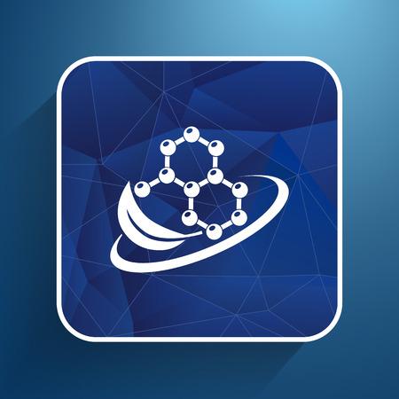 dissolving: Natural components icon molecule illustration science nature .