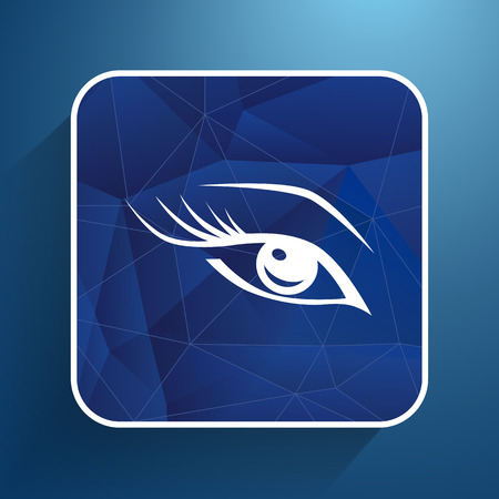 waxing: blue eye with long lashes  woman makeup beauty symbol.