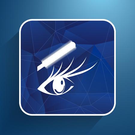 ojo azul: ilustraci�n mascara azul hembra hermoso ojo.