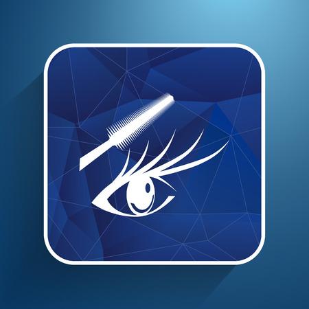 long eyelashes: Woman eye with beautiful makeup and long eyelashes Mascara Brush.