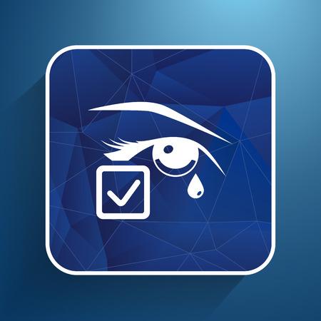 visionary: Eye with tears illustration eye isolated sign symbol illustration icon.
