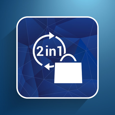 two in one product package bag illustration icon.