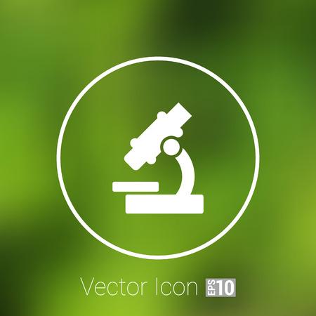 investigando: icono de la investigación de signo de investigación tecnológica símbolo equipos de medicina ilustración microscopio. Vectores