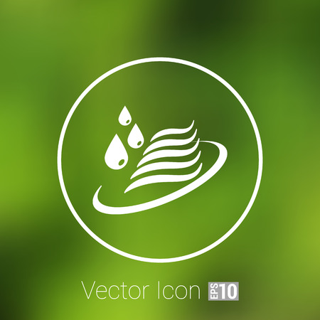 Abstract symbol  of a water icon drop wave sign. Vector