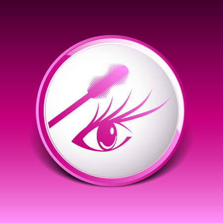 eyelash: mascara eye brush paint makeup stroke isolated eyelash. Illustration