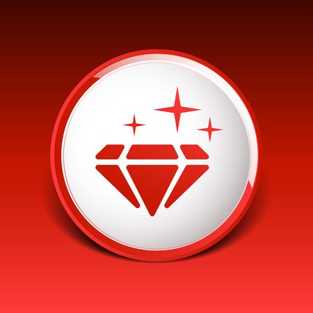 bijou: Illustration of a blue  diamond icon glitter icon stone