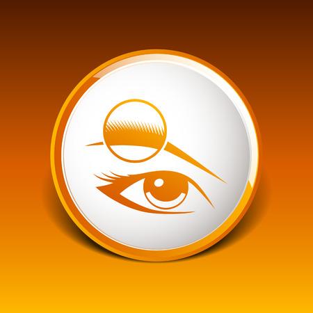 human eye: Human eye isolated eye eyebrow  Illustration