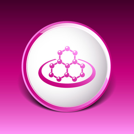 collagen: icon molecular research chemistry medicine molecule atom.