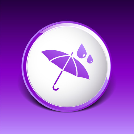 impermeable: waterproof icon water proof symbol umbrella.