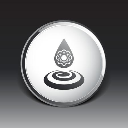 water molecule: agua mol�cula qu�mica del agua icono s�mbolo del �tomo.