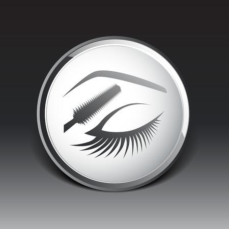 eye closeup: eye closeup mascara model female fashion girl look. Illustration