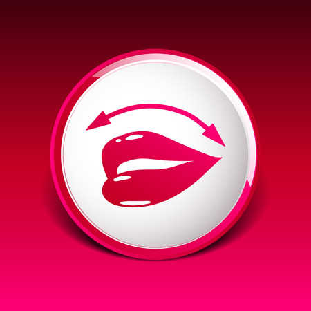 sexual health: Lips icon isolated on white background. Illustration